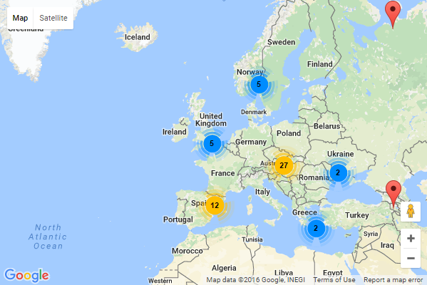 Map Of Germany Google.Group Markers In Google Map With Gmaps Marker Clusterer Codeblog Ch